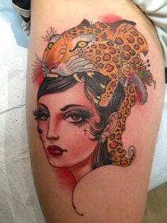 20 fierce old school leopard tattoos tattoodo for Henry lewis tattoo