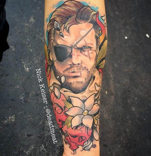 Can you handle this Venom Snake Tat? via @deadmeat