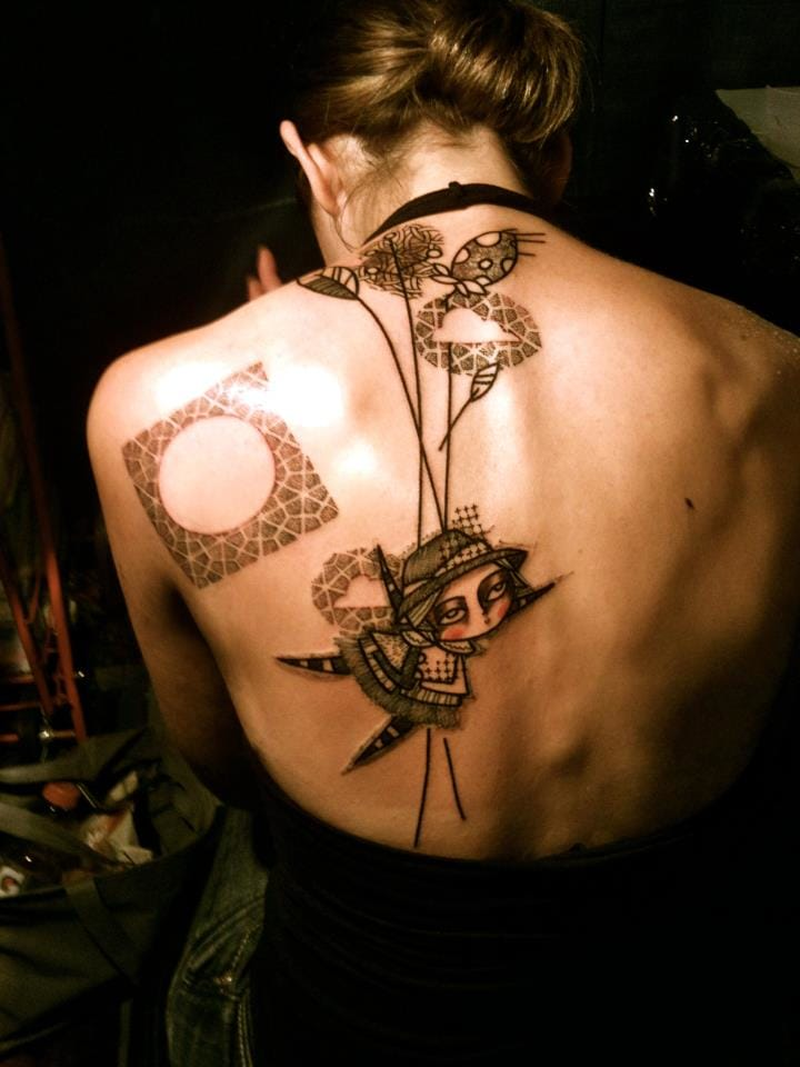 graphic tattoo by Noon