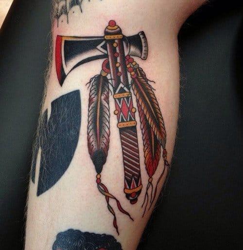 18 Deadly Tomahawk Tattoos