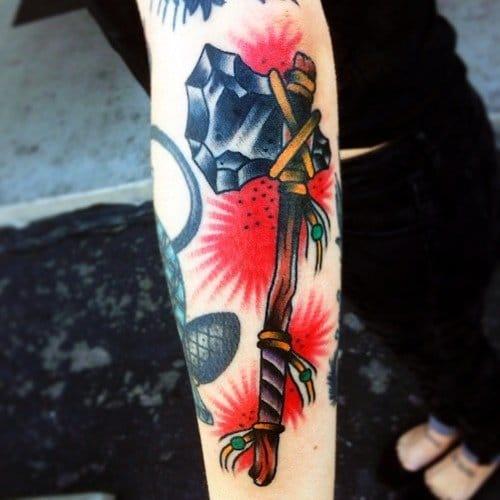 Bold Tomahawk Tattoo by KC Lange
