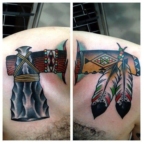 Creative Tomahawk Tattoo by Left Hand Tricks