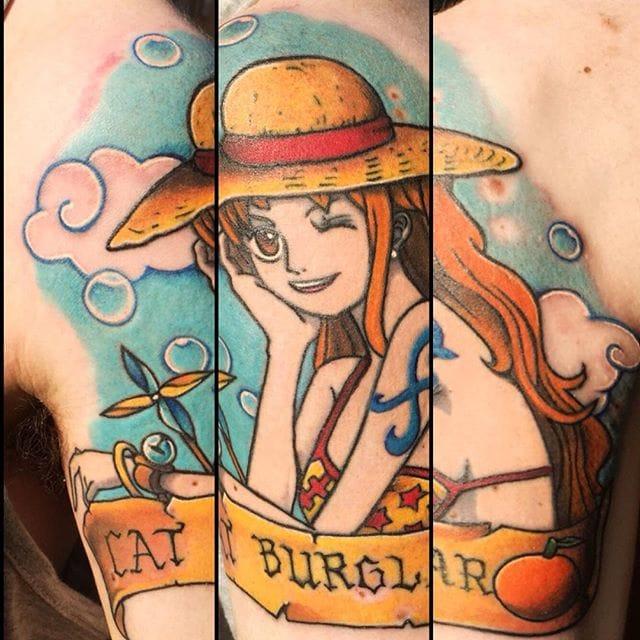 one piece tattoo by Tilly Tattoo Studio