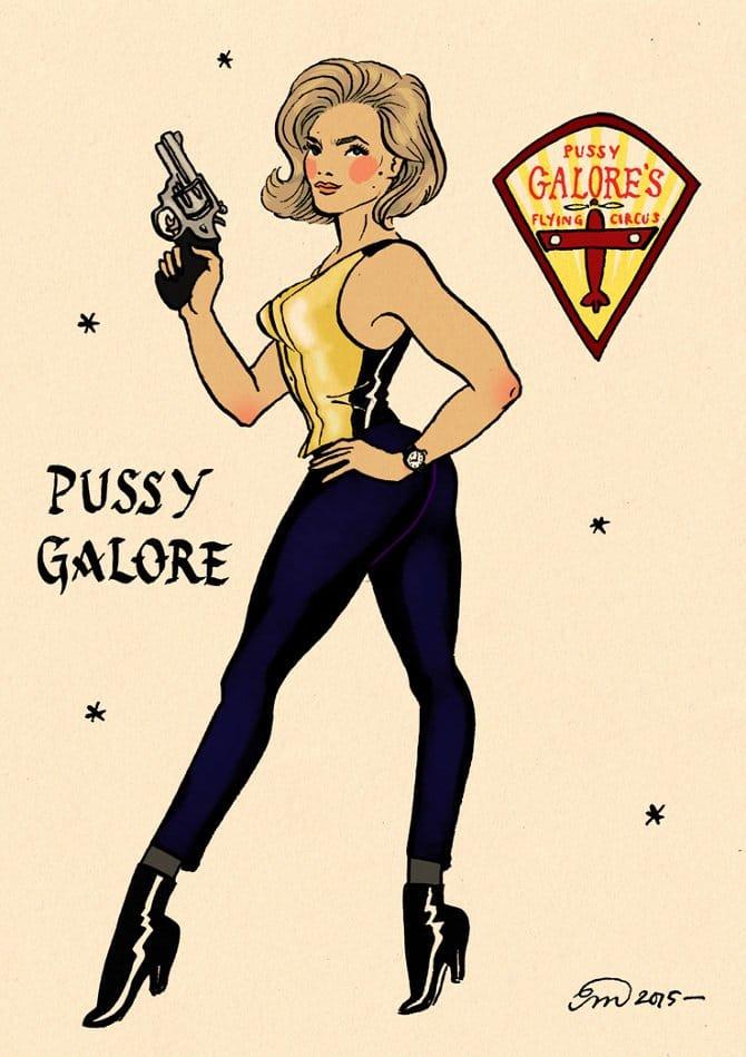 Emma Munger's Sailor Jerry Inspired Pin Ups