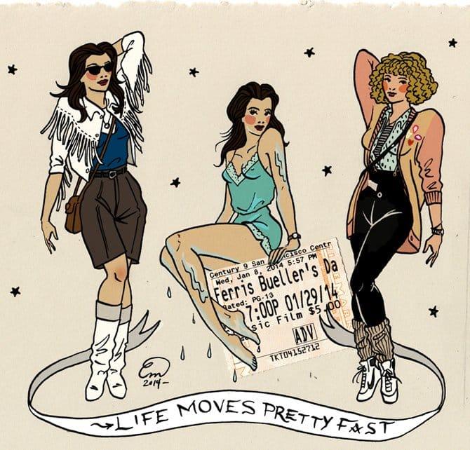 The girls from Ferris Bueller, via emmamunger.tumblr.com