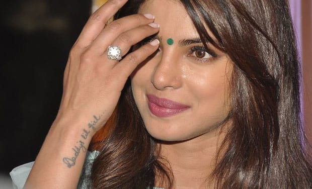fan  priyanka chopras autograph tattooed   arm tattoodo