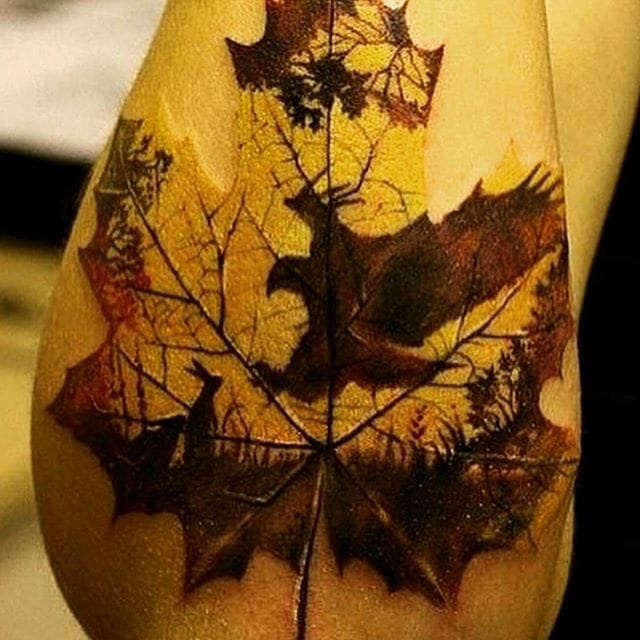 Rustic leaf with a nice history in it, via @insta_inkaddict