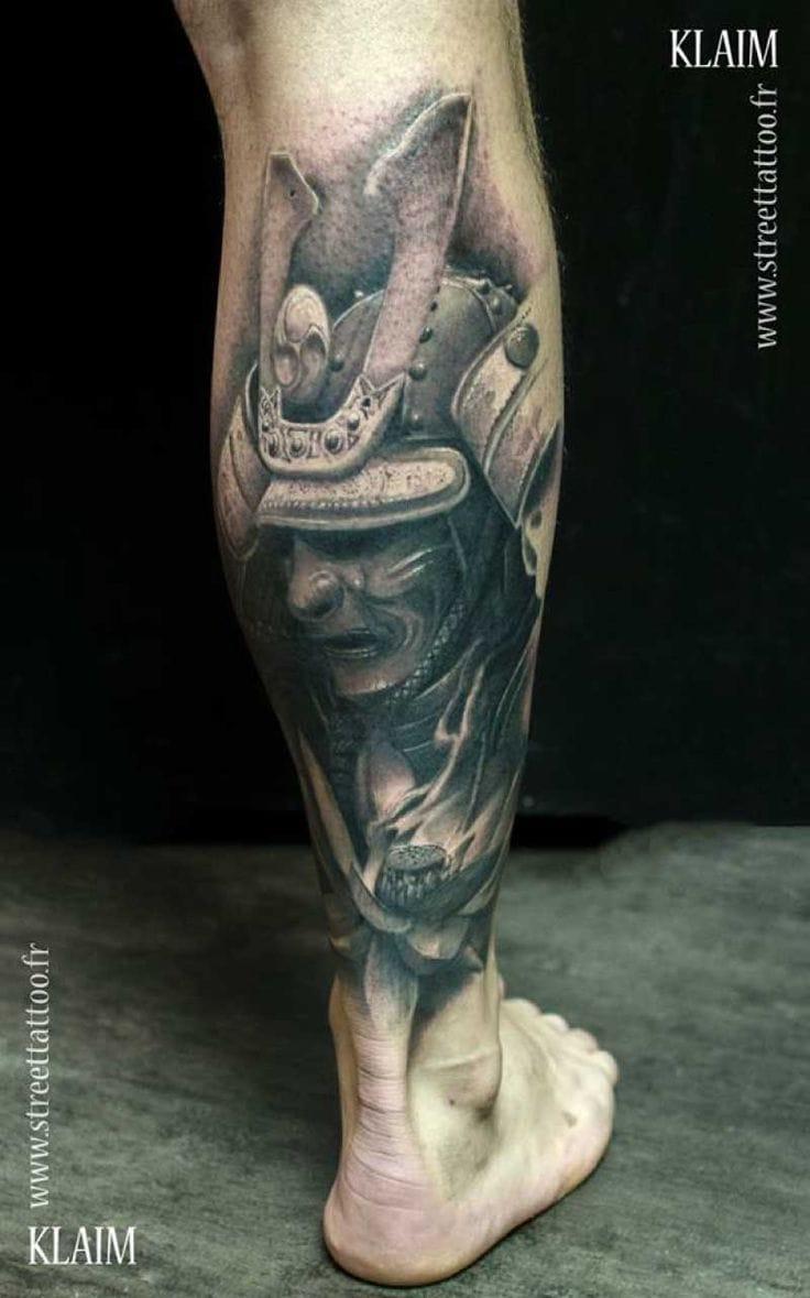 15 ornate samurai helmet tattoos tattoodo. Black Bedroom Furniture Sets. Home Design Ideas