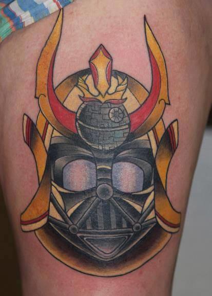 Star Wars Samurai Helmet Tattoo by Last Angels Tattoo