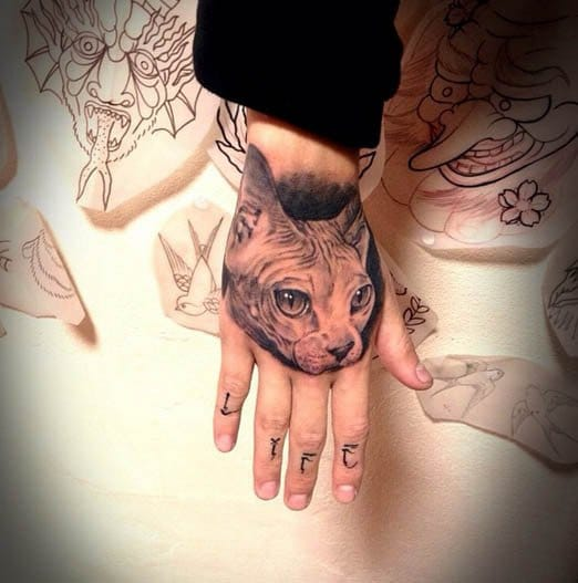 Sphynx Cat Tattoo by Your Round Tattoo Studio