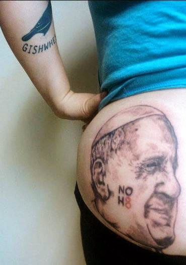 Pope Francis Tattoos For The Gishwhes!