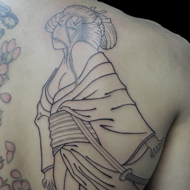 Geisha tattoo by Shin
