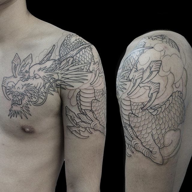 A nice freehand dragon by Shin