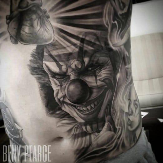 25 Menacing Clown Tattoos