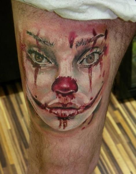Clown Blood Tattoo by Qrucz Tattoo