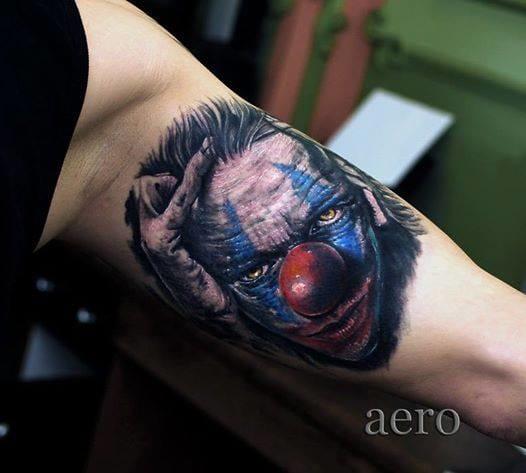 Dark Clown Tattoo by Aero & Inkeaters