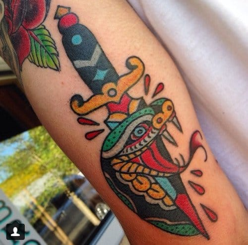 Colorful Tattoo by Eli Falconette