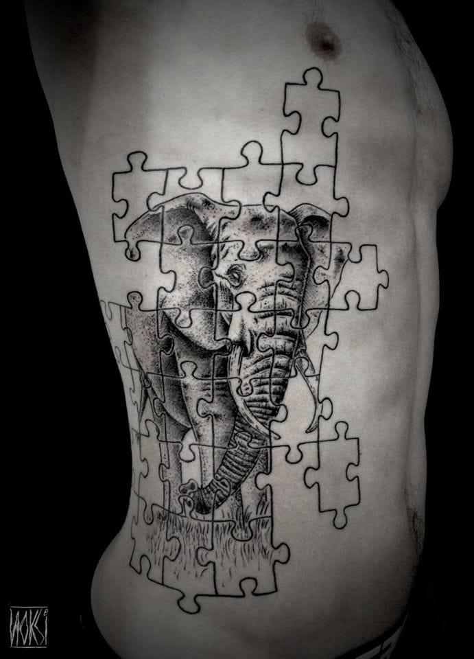 Creative elephant sidepiece...