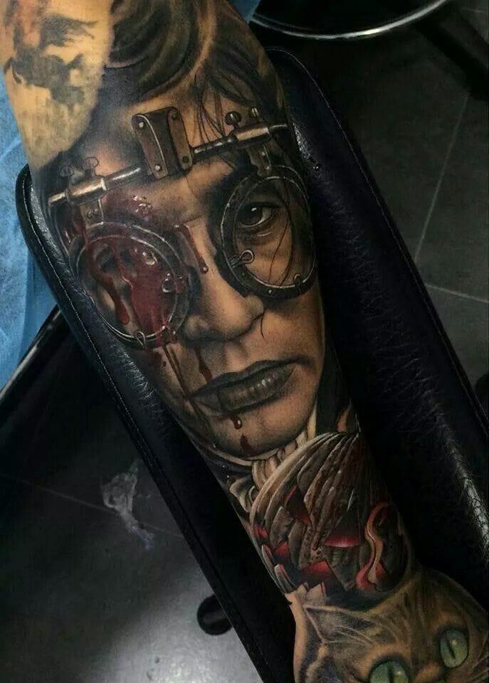 Ichabod Crane, played by Johnny Depp, inked by Fredy Tomas.