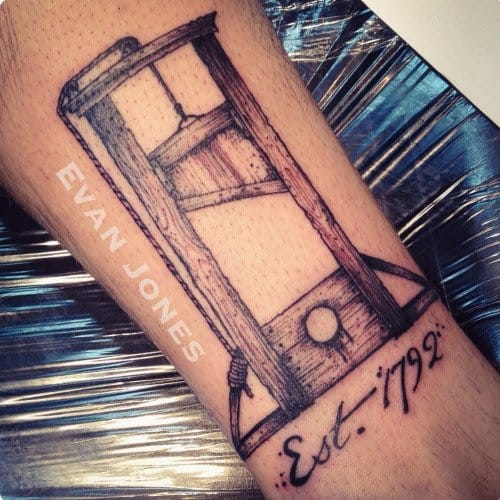 16 Sinister Guillotine Tattoos