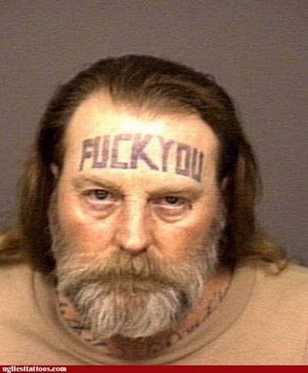 Tattooed mugshot