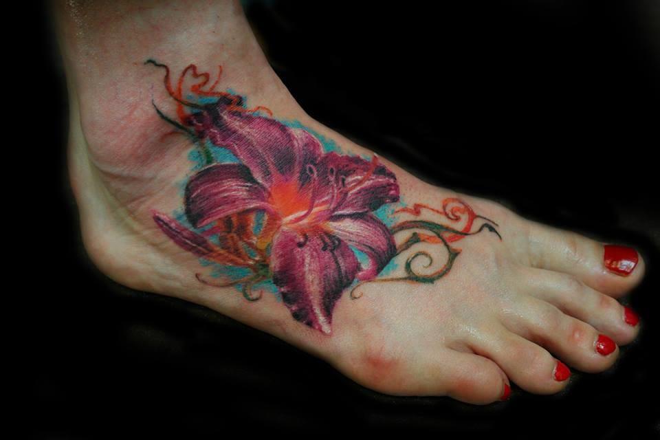 Linda tatuagem no pé!