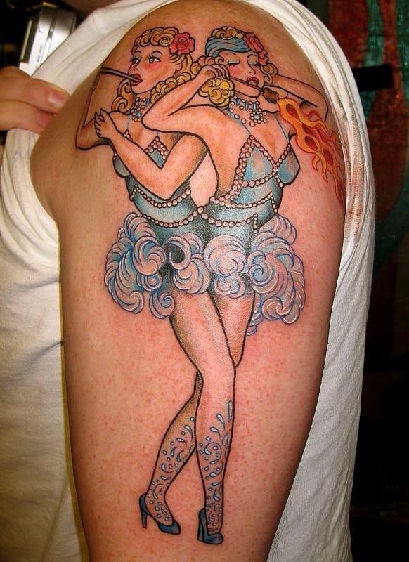 Tattooed twins