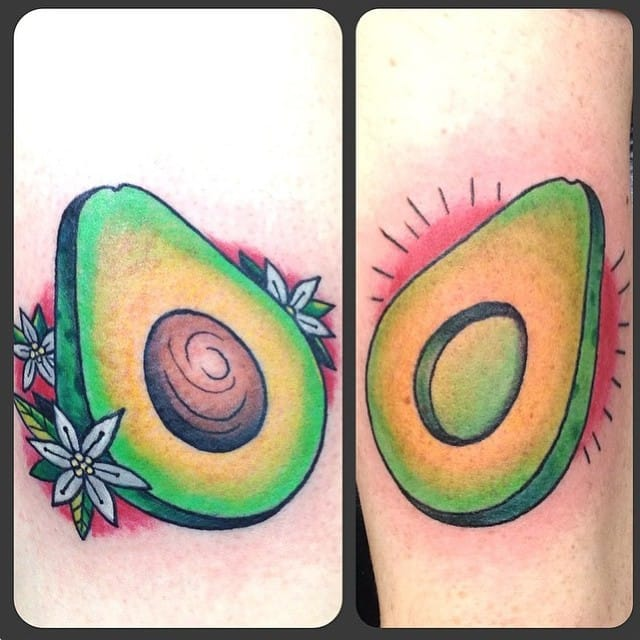 avocado tattoo by darkstartattoo/Instagram