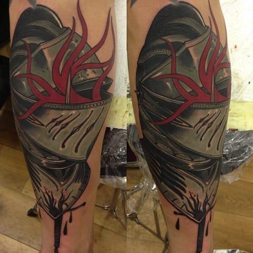 Knight Tattoo by Andrzej Lipczyński