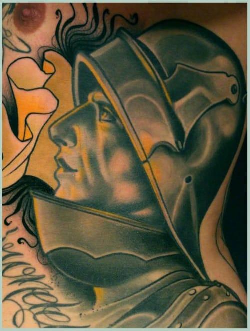 Intense Knight Tattoo by Lu's Lips