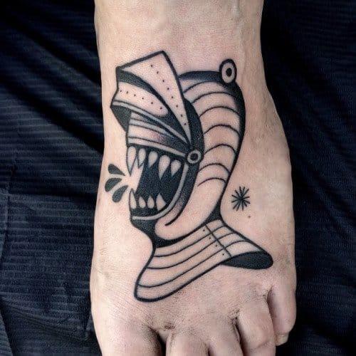 Knight Teeth Tattoo by Luca Font
