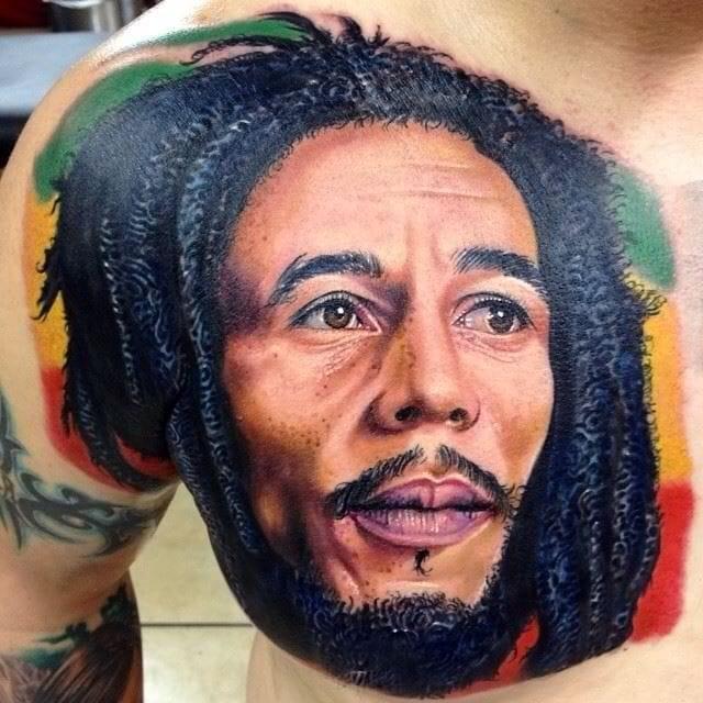 Amazing Bob Marley tattoo