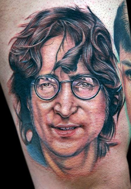 Cecil Porter did this portrait of Beatles co-founder and music legend John Lennon