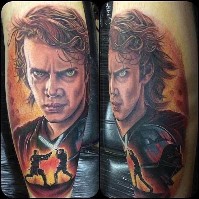 Fierce Anakin Skywalker tattoo by Chris Jones #starwars #anakinskywalker #ChrisJones