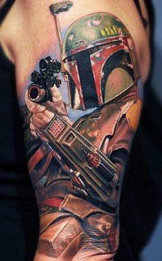 Boba Fett Star Wars Tattoo by Nikko Hurtado #starwars #bobafett #NikkoHurtado