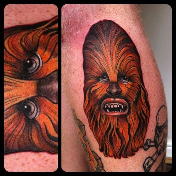 Bold Chewbacca Tattoo by Marked For Life #chewbacca #starwars #starwarstattoo #MarkedForLife