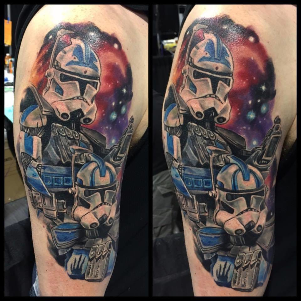 Star Wars tattoo, artist unknown #starwars #starwarstattoo