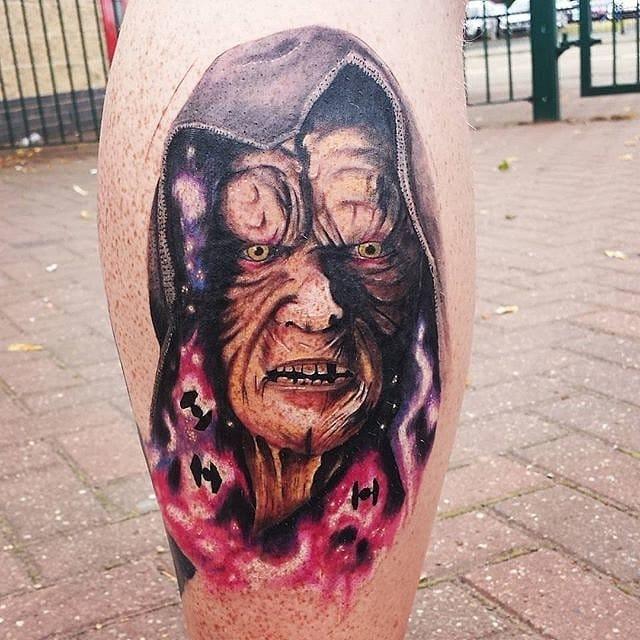 Amazing Darth Sidious Tattoo by Paul Hanford #darthsidious #starwars #starwarstattoo