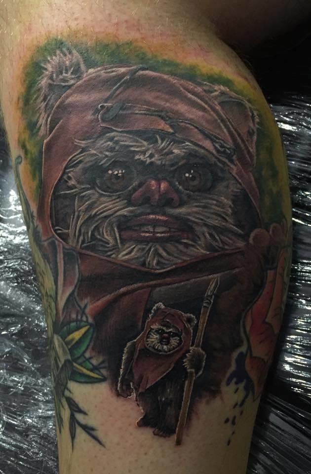 Star Wars tattoo. Artist unknown #starwars #starwarstattoo