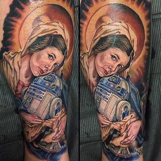 Star Wars tattoo. Unknown artist #r2d2 #starwars #starwarstattooo