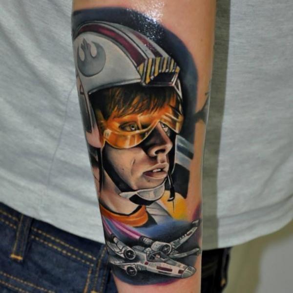 Incredible Luke Skywalker Tattoo by Rock Tattoo #lukeskywalker #starwars #rocktattoo