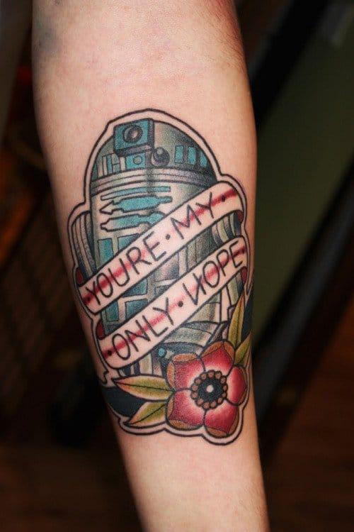 Classic R2-D2 Tattoo by Matt Cooley #r2d2 #starwars #MattCooley