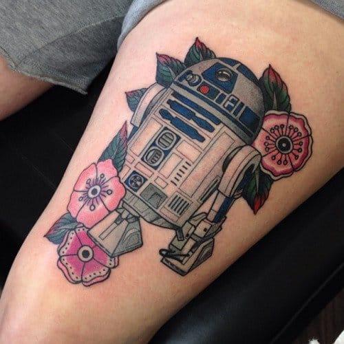 Great R2-D2 Tattoo by Ryan Cooper Thompson #r2d2 #RyanCooperThompson #starwars