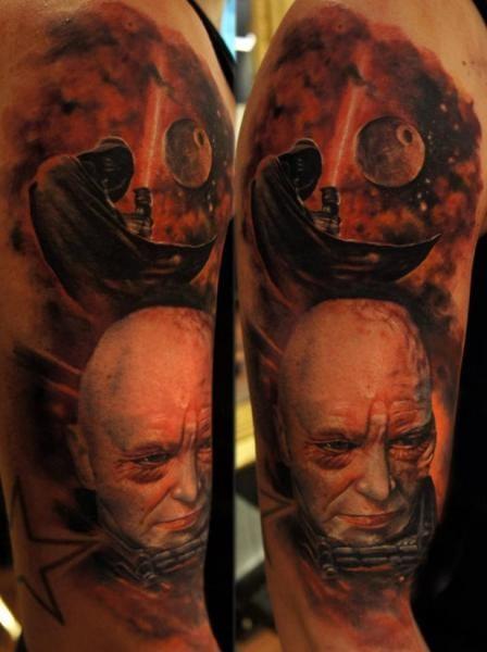 Kickass Darth Vader Tattoos by Domantas Parvainis #darthvader #DomantasParvainis #starwars