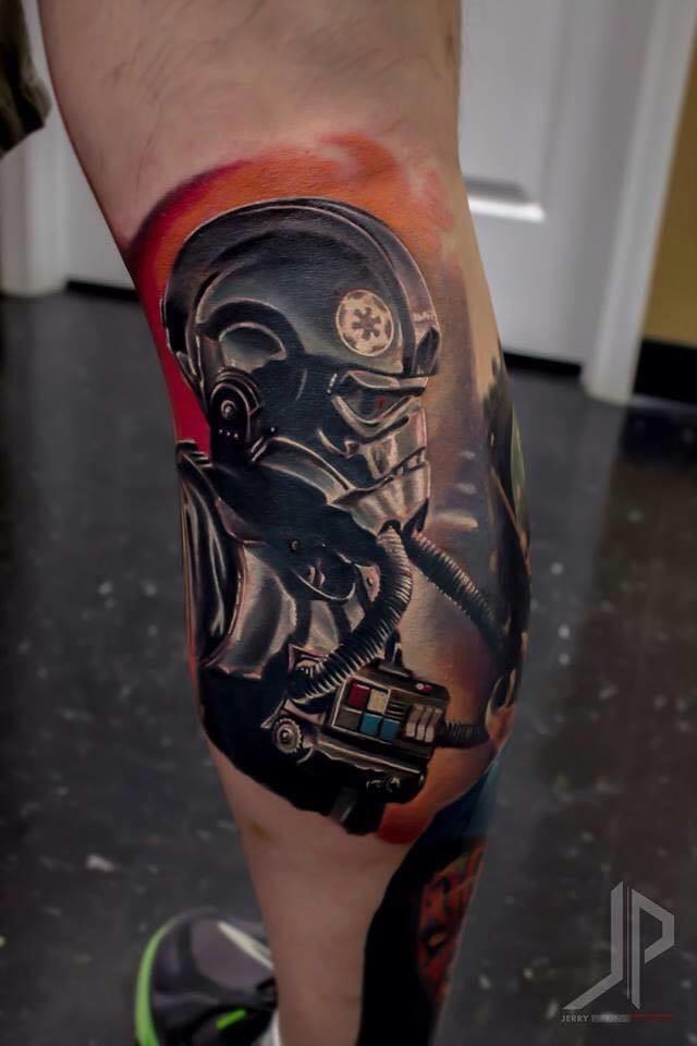 Star Wars tattoo by Jerry Pipkins #starwars #jerrypipkins