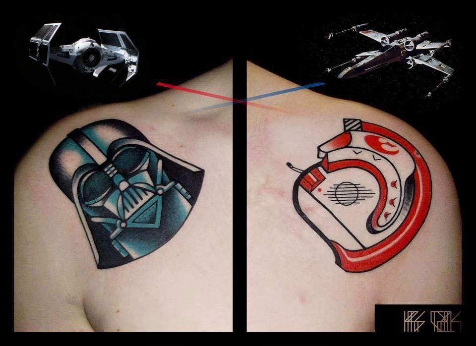Star Wars Tattoos by Kris Ciezlik #starwars #krisciezlik #darthvader