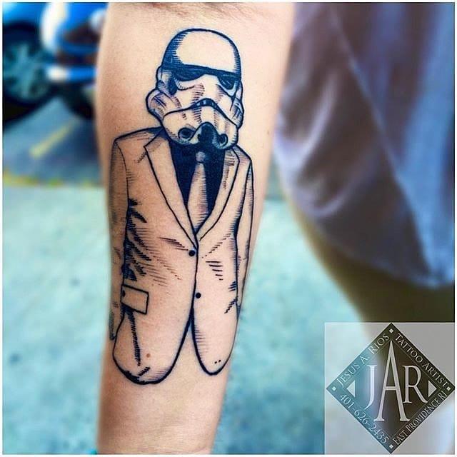 Star Wars tattoo by Jesus A. Rios #starwars #suit #mask