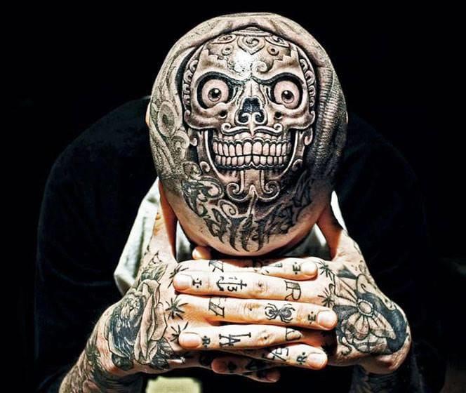 50 Fantastic Scalp Tattoos