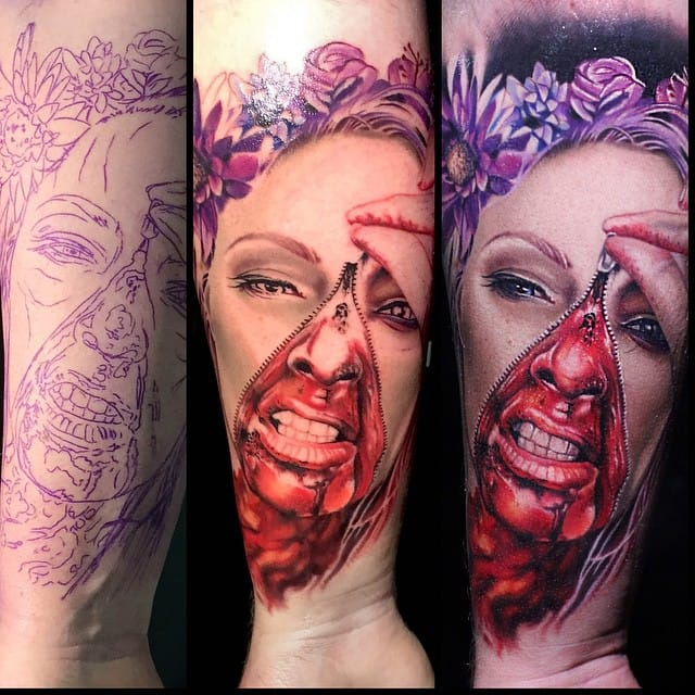 Gore tattoo by Luka Lajoie.