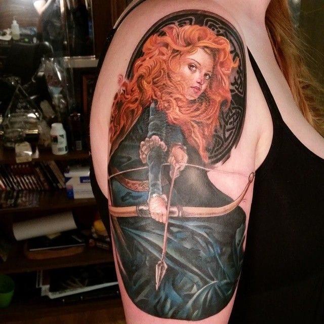 Disney's Merida Tattoos To Prove Your Bravery